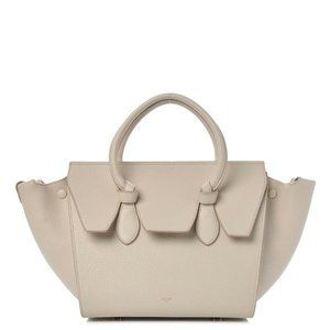 Celine Calfskin Mini Tie Knot Leather Tote Purse